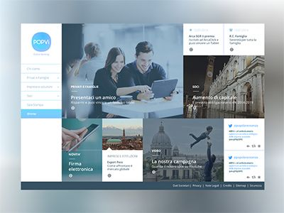 Banking Website homepage draft by Tommaso Nervegna