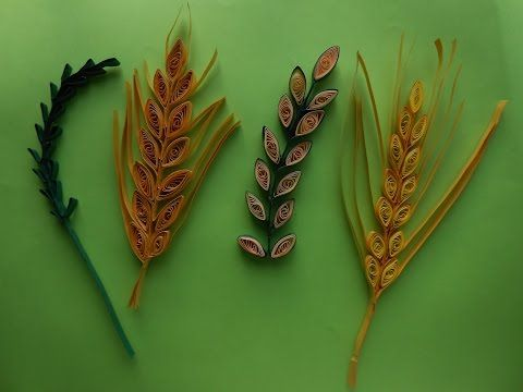 How to make Quilling Wheat Grain/Leaf Stem using Comb - YouTube