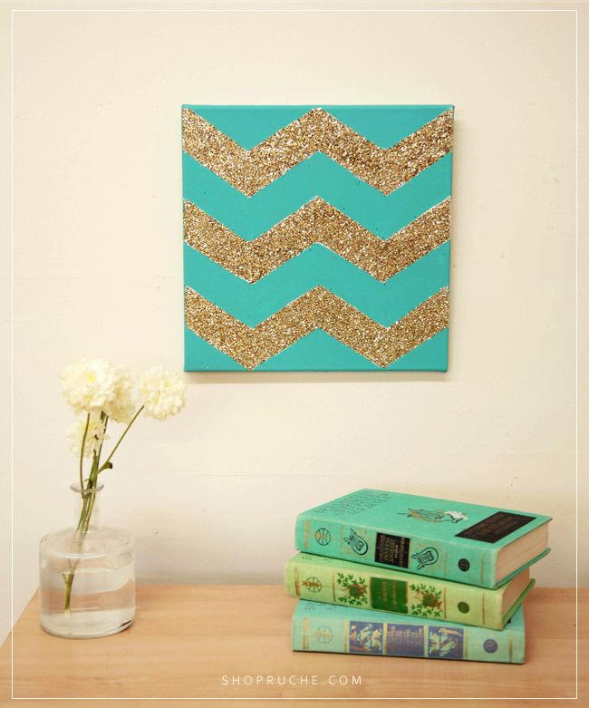 Best 25 glitter chevron canvas ideas on pinterest for Diy chevron wall art
