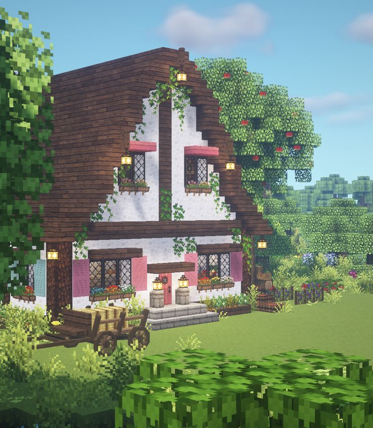 Cottagecore Minecraft 🍓🌿 Aesthetic Fairy Cottage 🍎 by ...