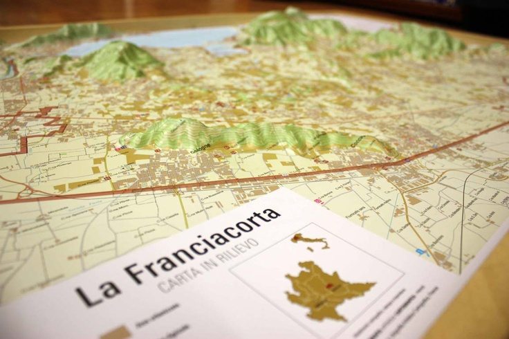 For Wine Lovers ...  Franciacorta Raised Relief Map
