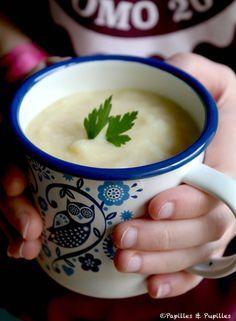 Recette : Velouté de pommes de terre, céleri et fenouil / Recipe potatoes, celery and fennel soup
