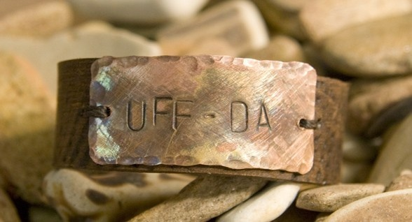 "Uff Da Leather Cuff , Norwegian. via Etsy. Even my 2 year old grandson says ""uff da""."