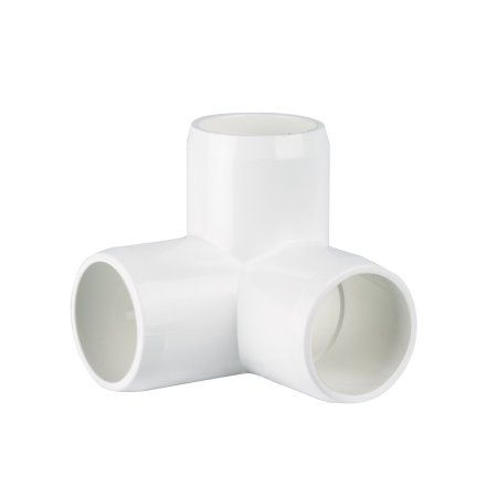 3 way L - ¾ - Furniture Grade PVC Fitting, White   Products