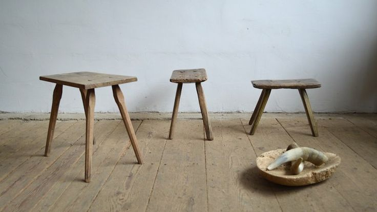 Old milking stool (3pc) | artKRAFT interior&design