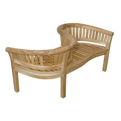 Anderson Teak BH-202LS Curve Outdoor Loveseat Bench