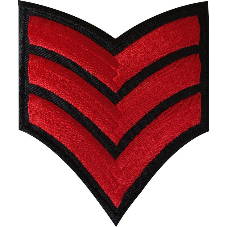 Embroidered Corporal Stripes Iron On Patch Sew On Badge Army Air Force Military