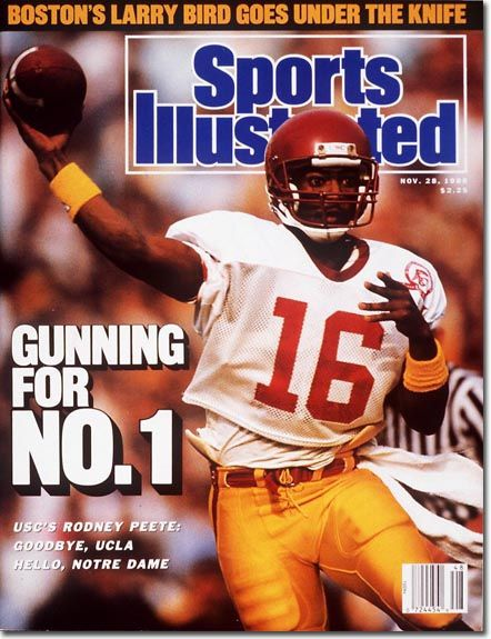 Rodney Peete, Football, USC Trojans-Peete was the first player ever from USC to win the Johnny Unitas Award as the nation's best senior quarterback.