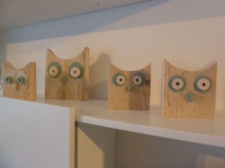 DIY uiltjes in hout - Gemaakt van afvalhout # DIY owl