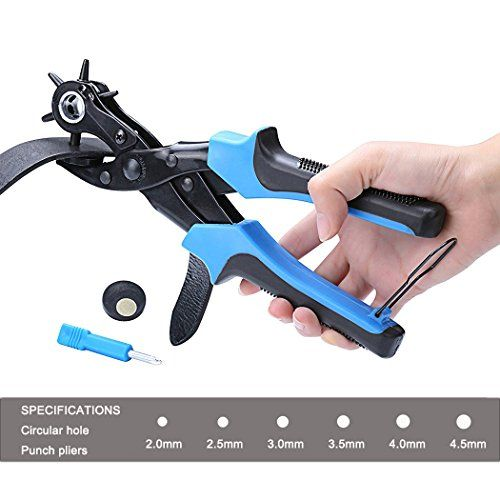 Professional Leather Hole Puncher Heavy Duty Hand Plier Belt Holes Punches kit