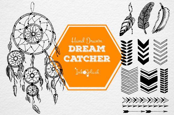 Hand drawn dreamcatcher set by InkSplash on @creativemarket
