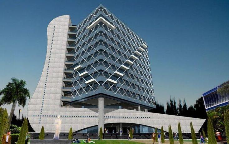Moderno Edificio De La Rectoría De La Universidad Nacional Autónoma de Honduras (UNAH)   Ingeniería Real