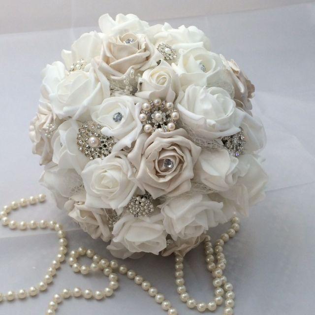 Winter wonderland wedding bouquet, perfect for that Christmas wedding https://www.etsy.com/uk/listing/166328247/wedding-bouquet-winter-wonderland-style?ref=listing-shop-header-4