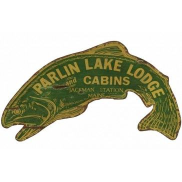 Vintage Fish Sign - Personalized | Custom Cabin Signs | Antlers Etc - Rustic Cabin, Lodge & Hunting Decor
