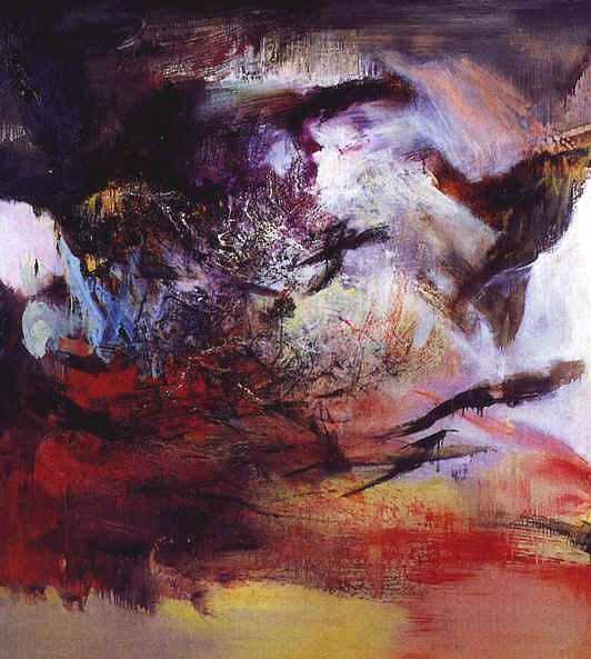 Zao Wou-Ki, Japanese Painter. He  started out studying calligraphy, then chinese and western art, and has lived in paris most of his life. He was much inspired by Paul Klee .