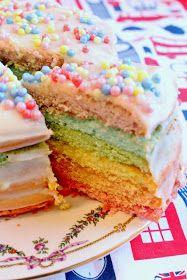 Soy un Mix!: Rainbow cake - Torta arcoiris. Receta fácil.