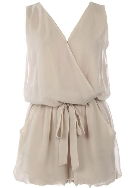 Chiffon playsuit: Fashion, Jumpsuits Rompers, Style, Dress, Outfit, Fancy Romper, Rompers Jumpsuits, Beige Romper