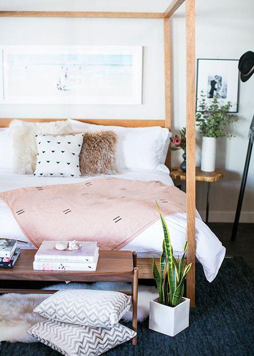 a grownup pink bedroom