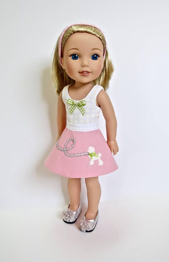 """Doll Clothes 14.5/"""" Skirt Tutu Pink Top Shoes Fits 14.5/"""" AG Wellie Wishers Dolls"""