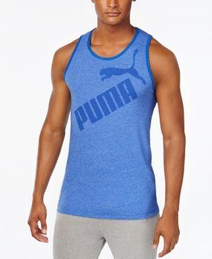 Puma Men's Tank Top - Blue XXL