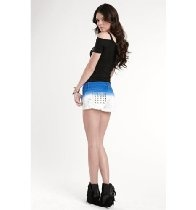 Kendall & Kylie Womens Dip Dye Shorts