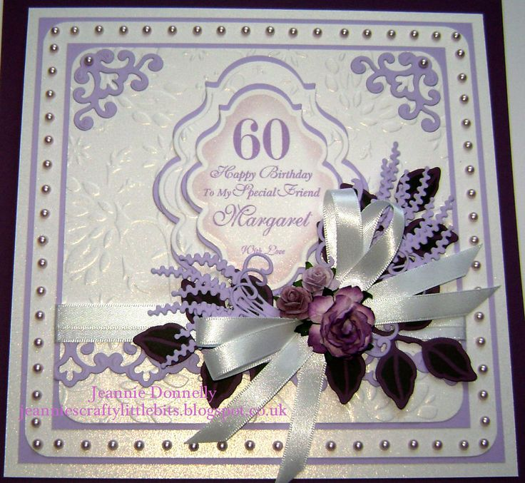 10 best 60th birthday cards images on pinterest 60 birthday 60th birthday with spellbinders dies bookmarktalkfo Choice Image