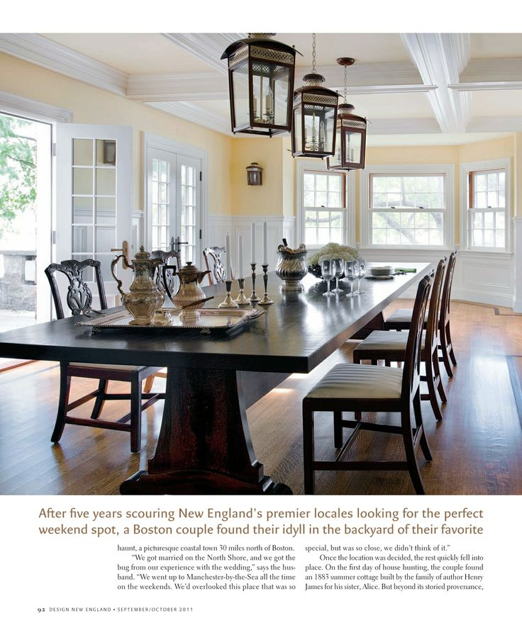 Design new england september october 2011 page 92 93 for New england dining room ideas