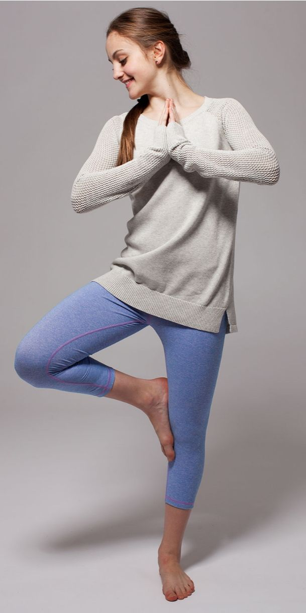 grab a juice with your besties after practice in comfy Cotton knit! | Right Om Pullover