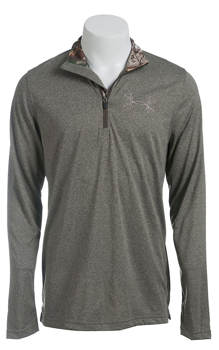 Under armour men 39 s owl brown ua tech borderland 1 4 zip for Owl fish clothing