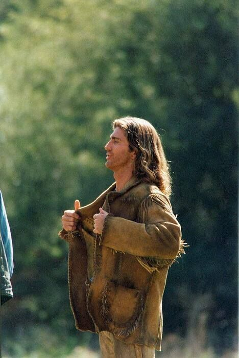 Joe Lando (Sully) - On the set of Dr. Quinn Medicine Woman