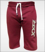 "XXR Mens Fleece Shorts Jogging Bottom Joggers MMA Boxing Gym Fitness Sweat Shorts Casual Home Wear (Maroon, Small ( 30-32"" ))"