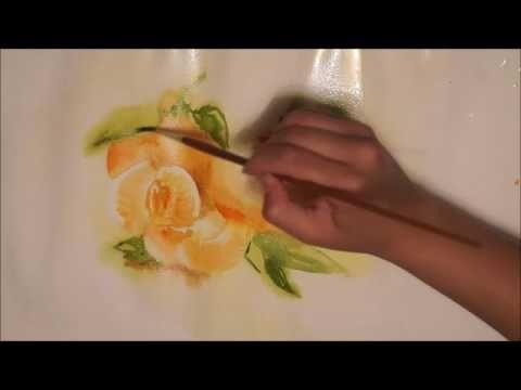 Рисуем сочные мандарины акварелью по-сырому - Ярмарка Мастеров - ручная работа, handmade