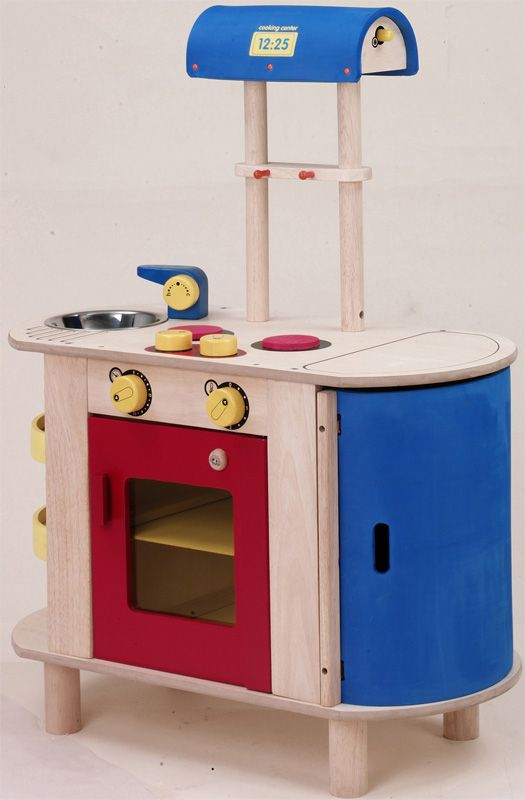 Blue wood play kitchen the 25 best kidkraft retro kitchen for Play kitchen designs