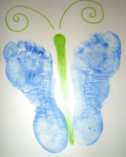 Mommy Y: Mother's Day Butterfly footprints