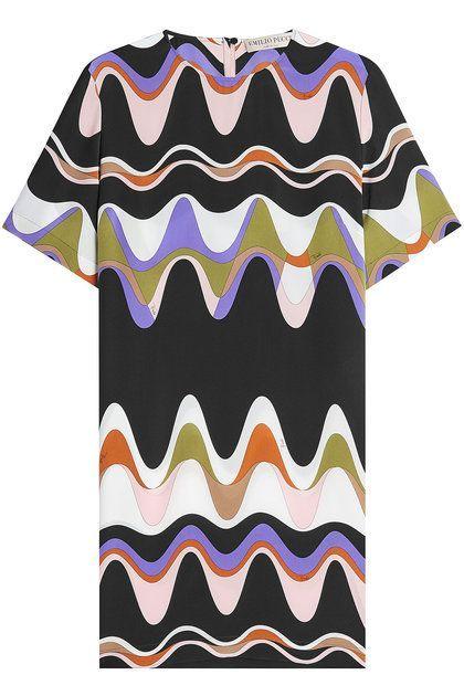 EMILIO PUCCI - Printed Silk Tunic Dress | STYLEBOP