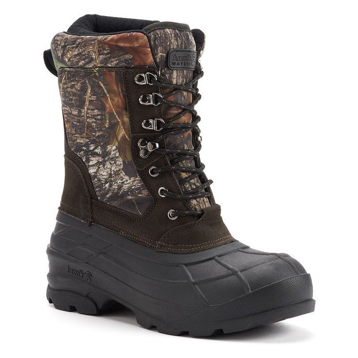 Kamik Nations Plus Camo Men's Winter Boots, Size: