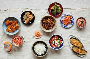 Japanese and Korean inspired vegetables small plates