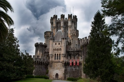 Butron Castle, Spain...dating back to the 14th century, evokes romantic images of medieval Europe.