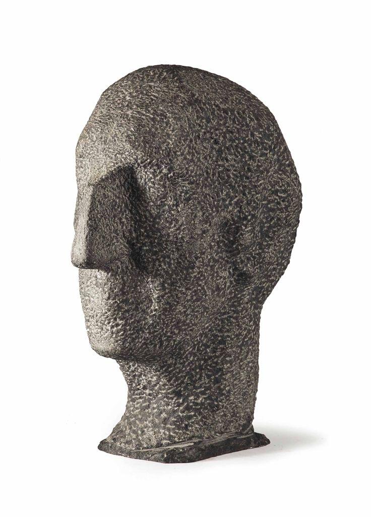 Charlotte van Pallandt (1898-1997)  Portrait of the sculptor Albert Termote,  granite, 1988. Sold by Christie's, 2013.