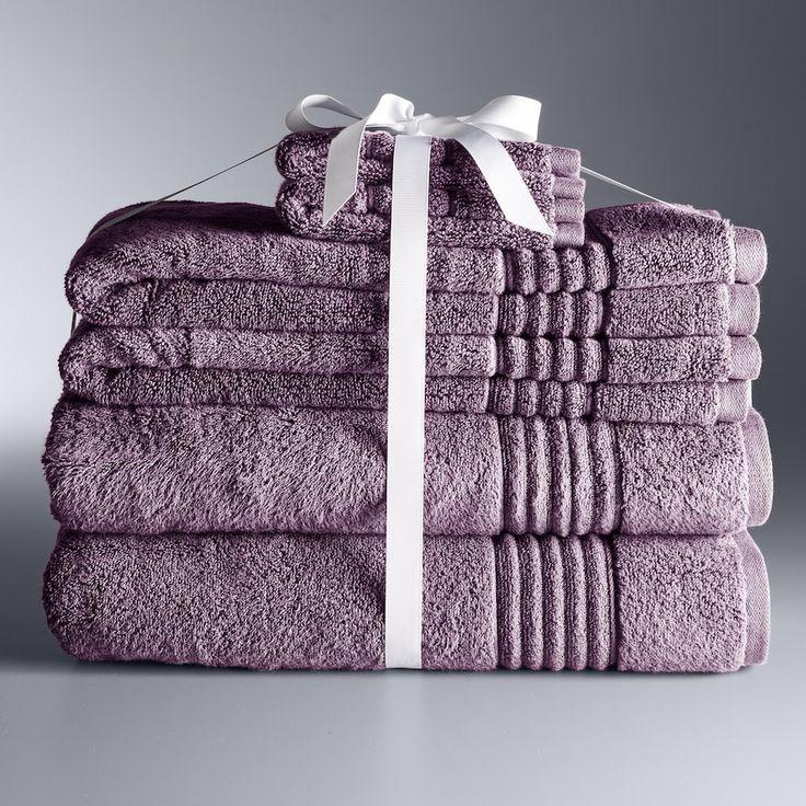 Simply Vera Vera Wang Signature 6-piece Bath Towel Set, Dark Pink
