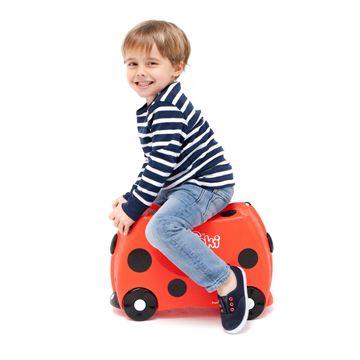 Trunki / Harley  TRUNKI ER EN KUFFERT PÅ HJUL – DESIGNET TIL BØRN PÅ FARTEN  Børnene kan pakke deres Trunki med alt deres yndlings legetøj, køre på den, sidde på den, trække den eller blive trukket af deres forældre. www.farmorsoutlet.dk