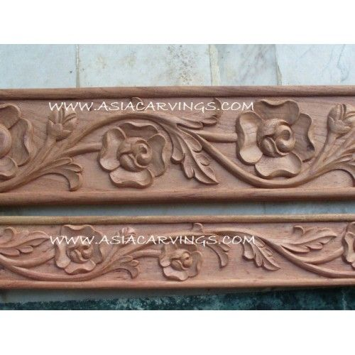 Mld relief carved rose and leaf mouldings