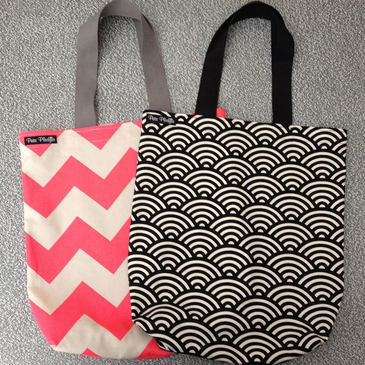 Tote bags I made and donated to a local school fete.