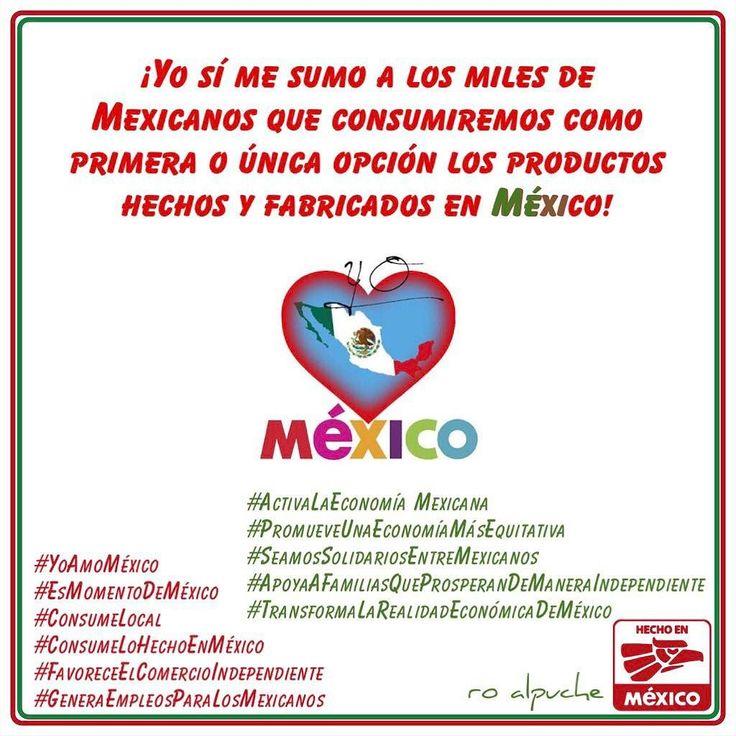 Yo sí apuesto por México y me sumo a los miles de Mexicanos que consumiremos como primera o única opción los productos hechos y fabricados en México!  #YoAmoMéxico #ConsumeLocal #ConsumeLoHechoEnMéxico #GeneraEmpleosParaLosMexicanos #ActivaLaEconomíaMexicana #TransformaLaRealidadEconómicaDeMéxico  #RoAlpuche #FundaciónRoAlpuche #JustMe #Entrepreneur #Dreamer #TravelLover #LoveMyDog #GreatFriend #Easygoing #CharityActivities #LivingMyLife #ALittleCrazy
