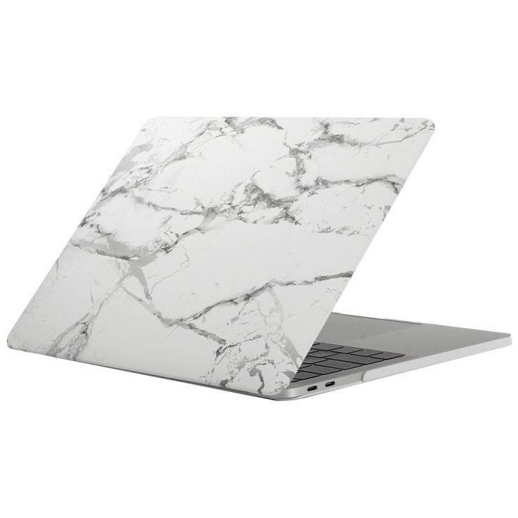 White & Silver Marble Laptop Case for MACBOOK AIR & MACBOOK PRO (Silver Marble)