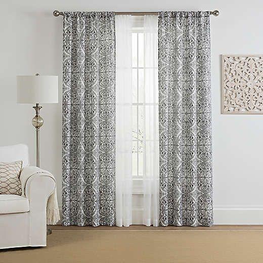 4 pack rod pocket window curtain panels