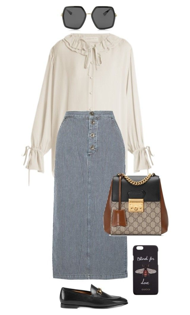 """""""Untitled #773"""" by szudi on Polyvore featuring Etro, M.i.h Jeans and Gucci"""