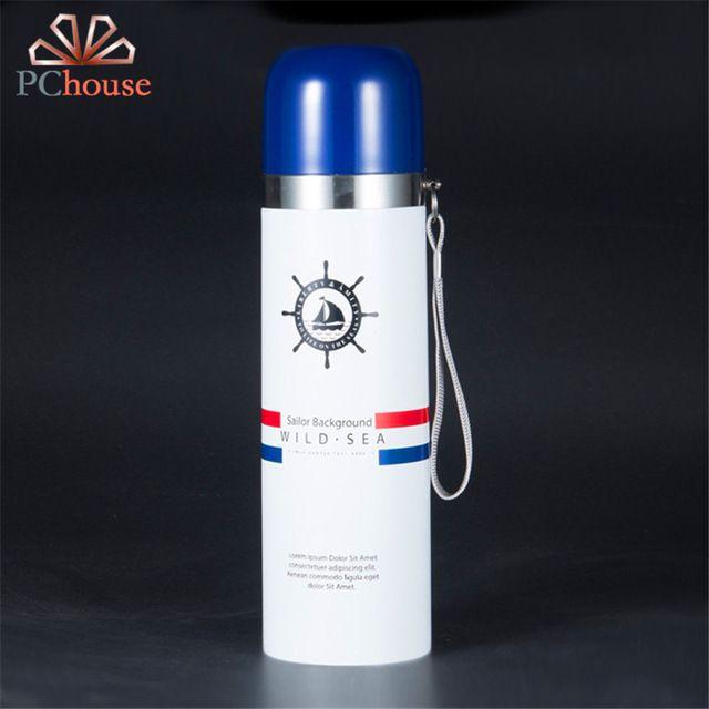 Pchouse Творческий пуля темно Стиль термосы 304 нержавеющая сталь термос на открытом воздухе модные Портативный бутылки воды герметичные чашки купить на AliExpress
