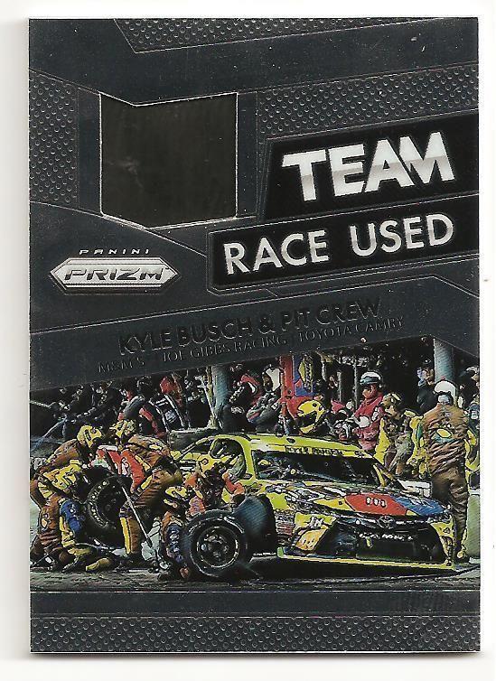 2016 PANINI PRIZM NASCAR CARDS Race Used Tire Team Kyle Busch & Pit Crew