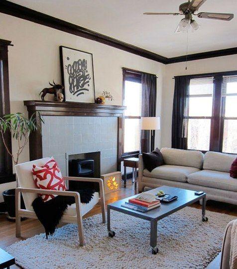 Living Room Dark Wood Trim Living Room